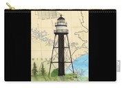 Duluth Harbor S Breakwater Inner Lighthouse Mn Nautical Chart Art Carry-all Pouch