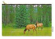 Elk Near Wapiti Campground In Jasper Np-alberta Carry-all Pouch
