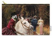 English Bulldog Art Canvas Print - Les Fiances Carry-all Pouch