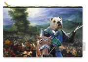 English Bulldog Art Canvas Print - The Brave Ricer Carry-all Pouch