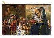 English Bulldog Art Canvas Print - The Garden Party Carry-all Pouch