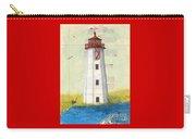 Faulkner Island Lighthouse Ct Nautical Chart Map Art Carry-all Pouch