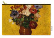 Flowers Carry-all Pouch by Odilon Redon
