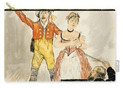 France Paris Poster Of Stage Performance At Cafe Chantant Carry-all Pouch