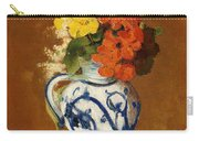 Geraniums And Other Flowers In A Stoneware Vase Carry-all Pouch