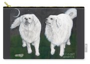 Great Pyrenees Dogs Night Sky Cathy Peek Animal Art Carry-all Pouch
