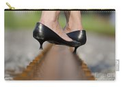 High Heels Shoes On Railroad Tracks Carry-all Pouch