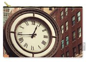 Historic Clock Of The Fifth Avenue Carry-all Pouch