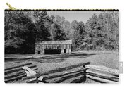 Historical Cantilever Barn At Cades Cove Tennessee In Black And White Carry-all Pouch by Kathy Clark