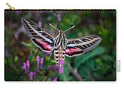 Hummingbird Moth Print Carry-all Pouch