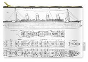 Inquiry Into The Loss Of The Titanic Cross Sections Of The Ship  Carry-all Pouch