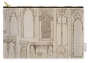 Islamic And Moorish Design For Shutters And Divans Carry-all Pouch by Jean Francois Albanis de Beaumont