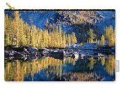 Larch Tree Reflection In Leprechaun Lake Carry-all Pouch