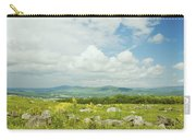 Large Blueberry Field With Mountains And Blue Sky In Maine Carry-all Pouch by Keith Webber Jr