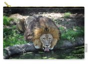 Lion Drinking Water Carry-all Pouch