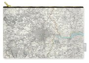 Map Of London And Environs Carry-all Pouch