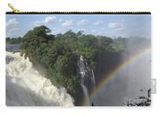 Mist And Rainbow At Victoria Falls Carry-all Pouch