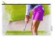Paula Creamer Putts The Ball On The Fourth Green Carry-all Pouch