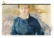 Portrait Of Louise Riesener Carry-all Pouch by Berthe Morisot