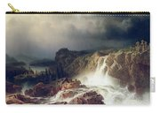 Rocky Landscape With Waterfall In Smaland Carry-all Pouch by Marcus Larson