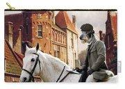 Scottish Deerhound Art Canvas Print Carry-all Pouch