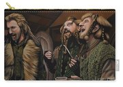 The Hobbit And The Dwarves Carry-all Pouch by Paul Meijering