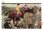 The Horse Race Carry-all Pouch by Jean Louis Forain