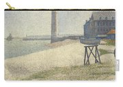 The Lighthouse At Honfleur Carry-all Pouch by Georges Pierre Seurat