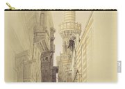 The Minaret Of The Mosque Of El Rhamree Carry-all Pouch by David Roberts