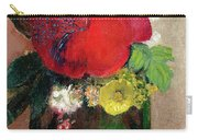 The Red Poppy Carry-all Pouch by Odilon Redon