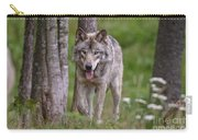 Timber Wolf Carry-all Pouch