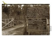 Toll Gate To 17 Mile Drive Pebble Beach California Circa 1910 Carry-all Pouch