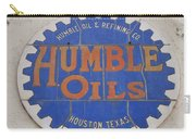 Vintage Humble Oils Sign Jefferson Texas Carry-all Pouch