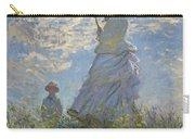 Woman With A Parasol Madame Monet And Her Son Carry-all Pouch by Claude Monet