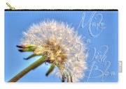 003 Make A Wish With Text Carry-all Pouch