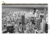 0036 Chicago Skyline Black And White Carry-all Pouch
