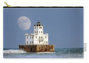 0186 Moon Over Milwaukee Breakwater Lighthouse Carry-all Pouch