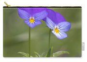 02 Heart's Ease Wild Viola Carry-all Pouch