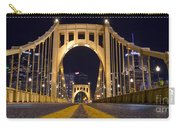 0304 Roberto Clemente Bridge Pittsburgh Carry-all Pouch by Steve Sturgill