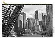 0365 North Branch Chicago River Black And White Carry-all Pouch