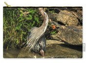 06 Waiting Heron Carry-all Pouch