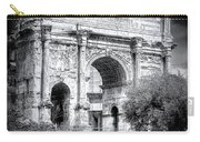 0791 The Arch Of Septimius Severus Black And White Carry-all Pouch