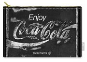 Coca Cola Sign Black And White Carry-all Pouch