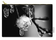 Rose And Frozen Leafs In Cold Winter Tones Carry-all Pouch