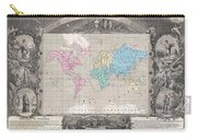 1852 Levasseur Map Of The World Carry-all Pouch