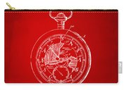 1916 Pocket Watch Patent Red Carry-all Pouch