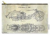 1939 Motorcycle Patent Drawing Carry-all Pouch