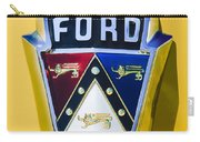 1950 Ford Custom Deluxe Station Wagon Emblem Carry-all Pouch by Jill Reger