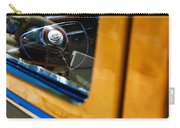 1950 Ford Custom Deluxe Woodie Station Wagon Steering Wheel Emblem Carry-all Pouch by Jill Reger