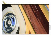 1950 Ford Custom Deluxe Woodie Station Wagon Wheel Carry-all Pouch by Jill Reger